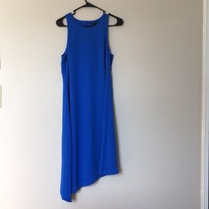 Banana Republic Blue Asymmetrical Dress. Size 8.